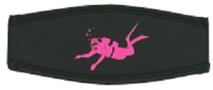 Neoprenmaskenband Taucher pink