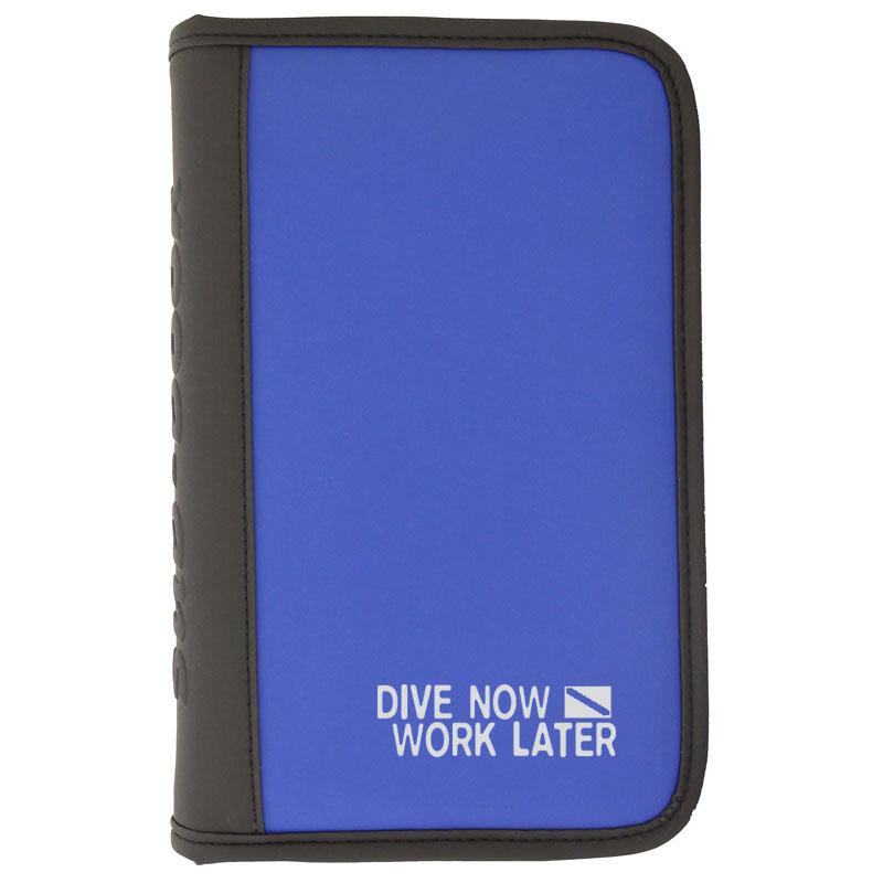 "Logbuch Blau ""dive now - work later"""