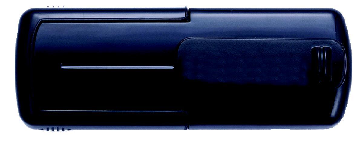 Taucherstempel 38 x 14mm schwarz