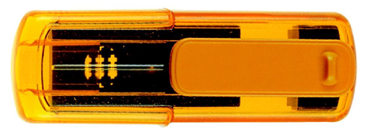 Taucherstempel 38 x 14mm topaz/gelb