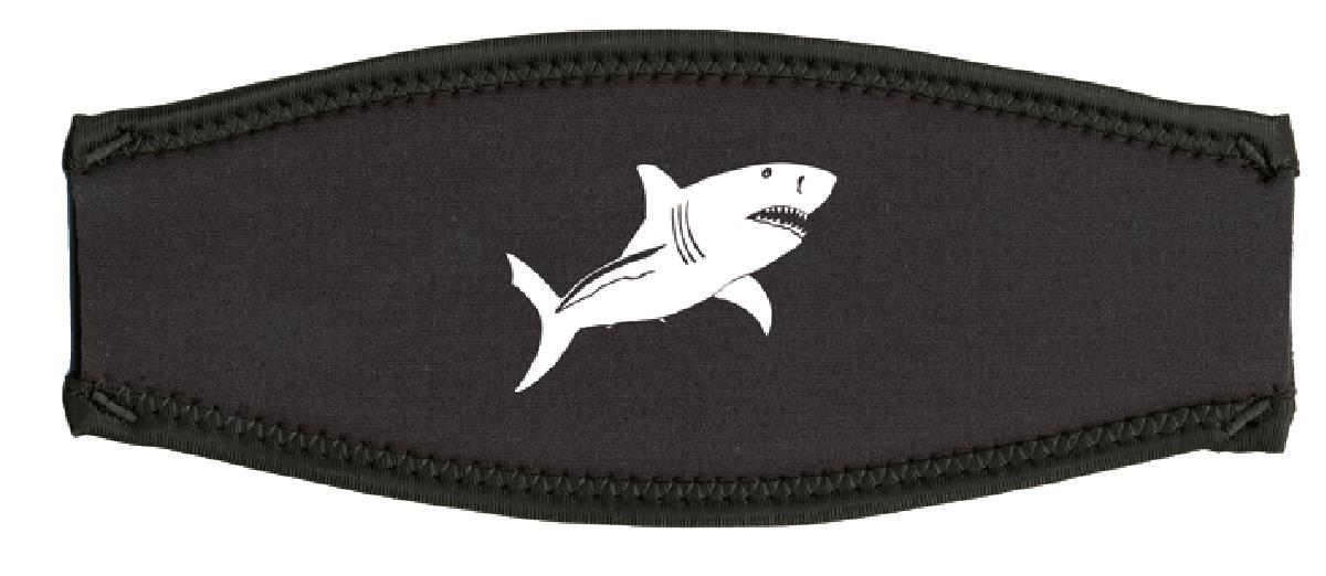 Neoprenmaskenband Weißer Hai weiß