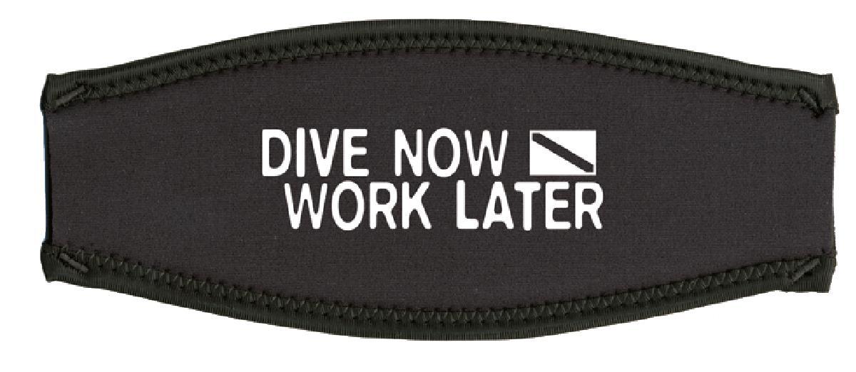 Neoprenmaskenband dive now - work later weiß